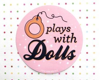 PLAYS WITH DOLLS Vinyl Sticker Blythe Doll - Pink