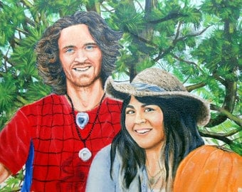 Couples Portrait Painting, Custom Portrait Art Shop