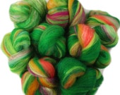 Lorax -- mini batts (2 oz.) organic polwarth wool, bamboo, silk, sparkle