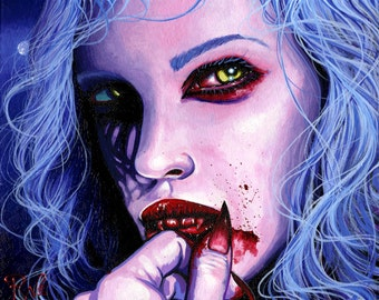 RW2 Limited Edition Print Draculaura Vampire By Robert Walker