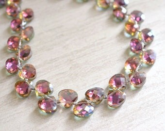 Ramona - Pink AB Crystal Bridesmaid Necklace
