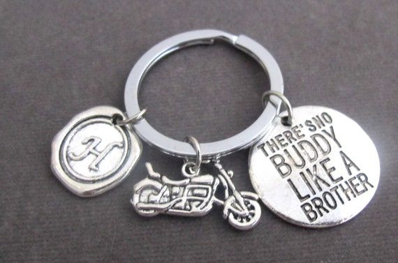 There is no BUDDY like a Brother,Brother Key Chain, Brother gift, Bike Keychain,Brother Jewelry,  Gift for Brother, Free Shipping In USA