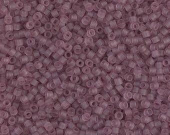 Miyuki Delica 11/0 Matte Tr Smoky Amethyst Crystal Seed Beads in 1, 5 or 10 gram package