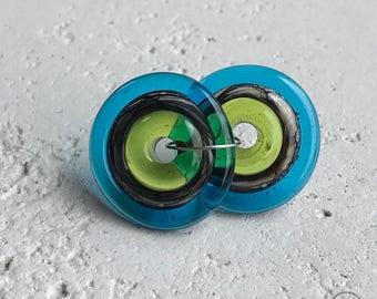 Bullseye - Lime, Black & Cream, Turquoise