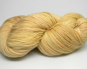 Straw on Tango Monkey worsted weight hand painted feltable yarn buttery soft yellow tonal