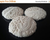 CLEARANCE - Ivory  buttons, lace buttons,1 7/8 inches buttons, price per button