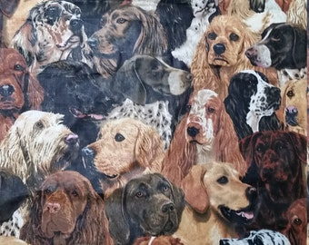 Wonderful Dogs Fabric Remnant