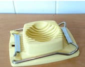 Mothers Day SALE vintage yellow egg slicer