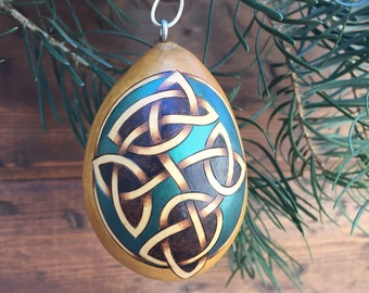 Celtic Knot Tree Ornament egg gourd