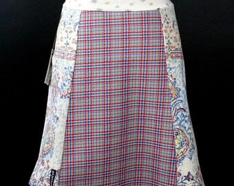 Plaid Paisley Power Skirt A-Line   Multiple Sizes