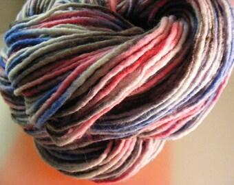 SALE... Was 8.50... Now 6.00...TOMBOY...handspun, handpainted wool yarn...4oz...180yd