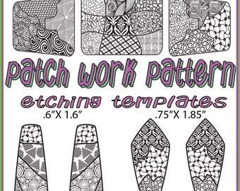 Patch Frame Work Making jewelry Etching Patch work Cuff pattern Download-patches- 2