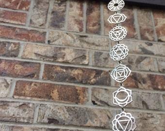 Seven Chakra Necklace / Chakra  Breastplate / Chakra Jewelry / Chakra Charm Necklace / Reiki Necklace / Yoga Necklace / Yoga Jewelry