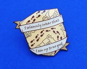 I Solemnly Swear That I Am Up To No Good Enamel Pin Badge  Lapel Pin Tie Pin  Harry Potter  Marauders Map