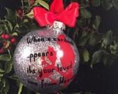 Cardinal Rememberance Christmas ornament; Memorial Christmas ornament, Cardinal ornament