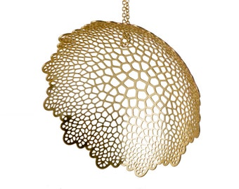 Large Calyx Pendant | etched brass | Corollaria collection