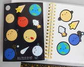 Solar System Stickers - Kawaii Planets and Space