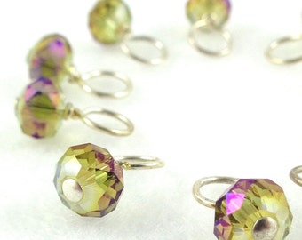 Aurora Droplet Stitch Markers Knitting or Crochet (Choose Your Size - Set of 10)