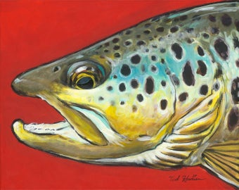 Brown on Red, Limited Ed. Print (50)