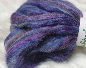 Alpaca bamboo roving - Blueberry Yum