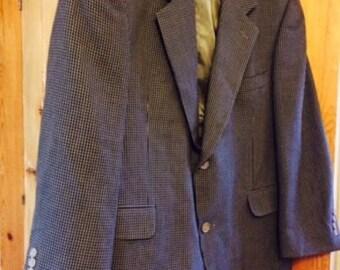 Plaid Sport Coat Blazer Wool Blend Italy Gianfranco Ruffini Sz S 43 Nice Jacket