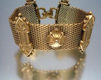 Victorian Revival Gold Tone Bracelet