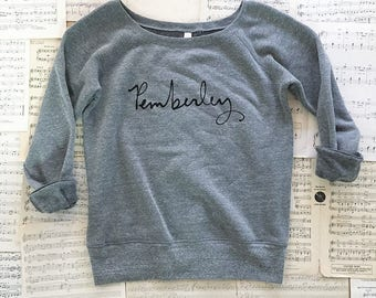 NEW -  Pemberley sweatshirt - women's S, M, L, XL, 2XL - Jane Austen - Pride and Prejudice