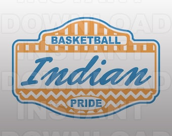 Basketball Indian Pride SVG File -Commercial & Personal Use- Vector Art SVG For ...