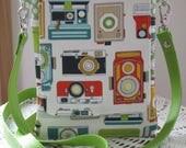 Mini Travel Hipster Passport Bag 3 Pockets Removable Shoulder Strap Made in USA Vintage Cameras