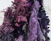 Border Leicester Wool Curls - Hand Dyed Fleece - Purple Locks - Plum Rose