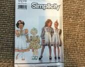 Custom Girl Dress Sarah Jane Fabric Children on Parade Sizees1 to 4 Toddler Short Sleeveu