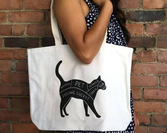 Cat Petting Guide Eco Tote | Perfect Cat Lover Gift
