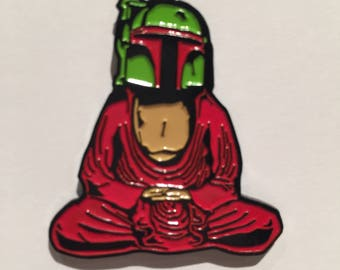 Boba Fett Buddha Soft Enamel Pin  Buddha Fett
