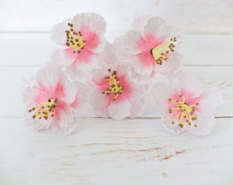 5 pcs - 45mm light pink paper cherry blossom (5 layers) - 4.5 cm paper flowers