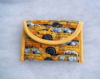 Quilted Card Holder - NYC taxi cabs