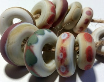 Lampwork Beads NATURALS 25 Two Sisters Designs 030417Q