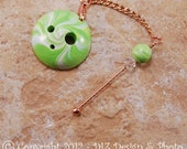 Lime Green Swirl Spinner's DIZ and Threader Set - No 2 - CONCAVE