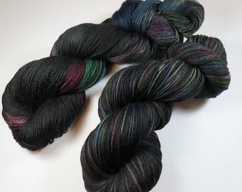 Hand Dyed Ultra Merino Superwash Sock/Fingering -- Got Crows? (Game of Thrones)