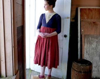 Edwardian Era Peasant Girl Costume Dress Size 8 to 10 Years