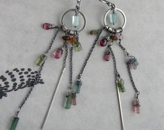 Candy Color Earrings – Tourmaline Apatite
