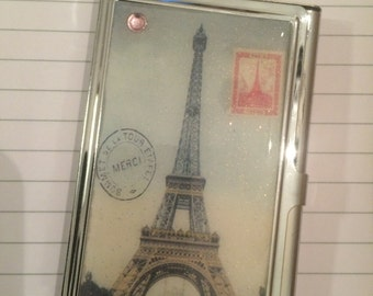 Eiffel Tower Paris Business Card Holder Credit Card Case