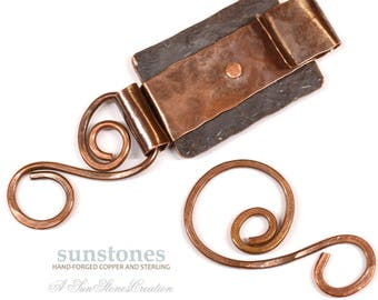 Reserve for Shelly - Handmade Rustic Copper Toggle Clasp TC605