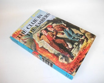 Hardy Boys Hollow Book Safe Clue in the Embers Hollowed out Book Secret Stash Compartment Keepsake box