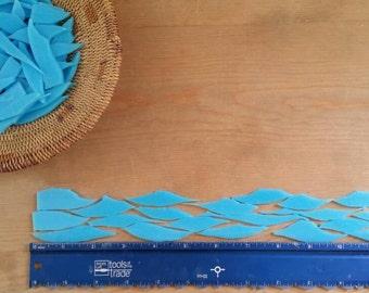 Sky Blue Glass Shards for Mosaic Art Designing