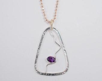 Purple Lightning  pendant