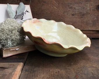 Glazed Ceramic Plate - Granny Smith Apple Green