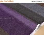 Japanese Fabric With Reality - faux wool twill canvas - stripes - A - fat quarter