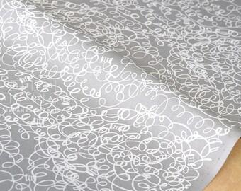 Japanese Fabric Yuwa Sewing Spools - grey - 50cm