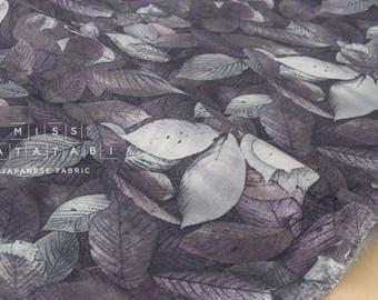 Japanese Fabric double gauze - leafy - C - 50cm