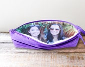 Personalized Photo Clutch For Mother or Sister in Law Gift- Custom Clutch with Picture- 32 Colors Available